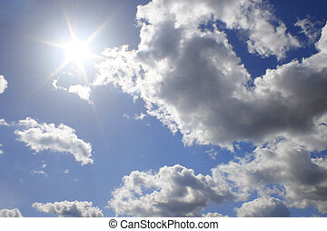 real sun on cloud sky