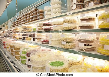 cakes and pies in store