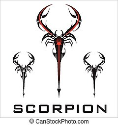 scorpionelegant stylized scorpions - Black Scorpion Suitable...