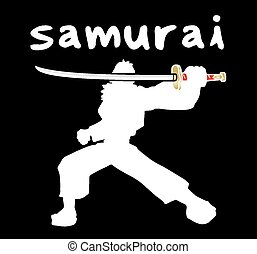 Samurai shadow - Creative design of Samurai shadow