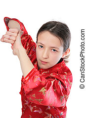 Kung fu girl blow