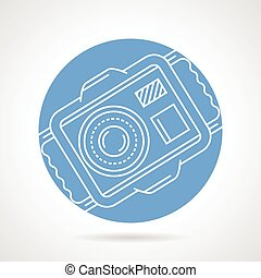 Underwater camera round vector icon
