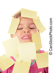 child in stikers