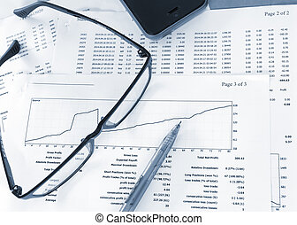 Analysis of financial reports , business concept,Image style...