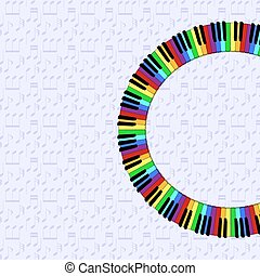 piano keyboard on dimmed background - piano keyboard on...