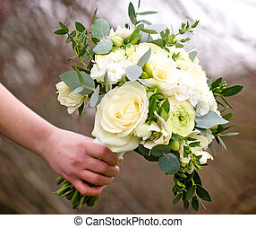 Bouquet of flowers - Beautiful and colourful bouquet of...