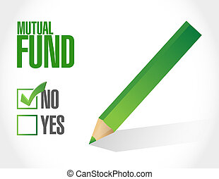 no mutual fund check mark illustration design over a white...