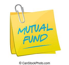 mutual fund memo post illustration design over a white...