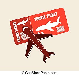 airplane ticket design, vector illustration eps10 graphic