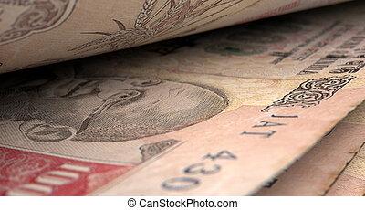 separato, banconote, primo piano, dettaglio,