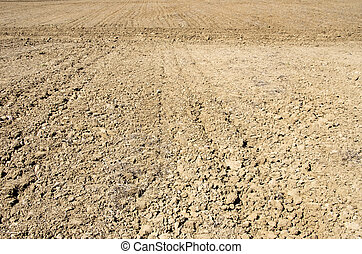 Background of plowed field