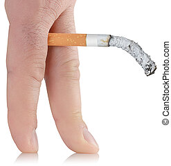 impotence caused by Smoking - smoked cigarette in the...
