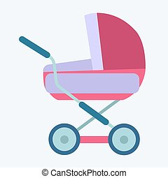 baby carriage childhood and motherhood icon symbol icon