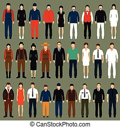 cartoon people, - vector cartoon people, man, woman flat...
