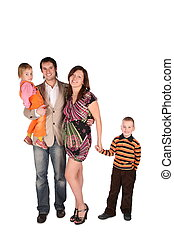 Young pregnant family with children
