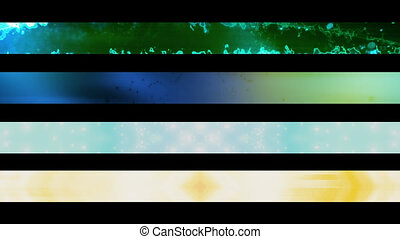 Lower Third Set Six - Four Looping Abstract Lower Third...