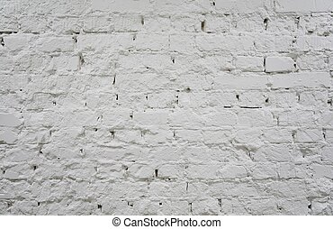 painted brick white wall 2