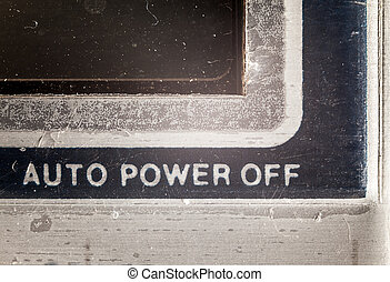 Auto Power Off - Details of an old used calculator, view on...