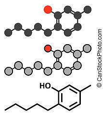 Amylmetacresol antiseptic drug molecule Used in lozenges to...