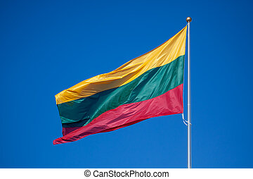 Lithuanian flag - National flag of Lithuania, consistsing of...