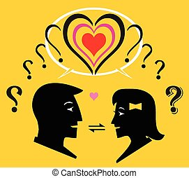 Interaction - Two question mark transformed to one heart...