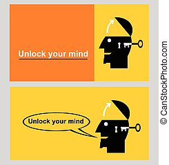 unlock your mind - motivation icon for your inspiration