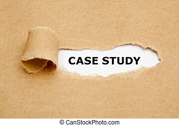 Case Study Torn Paper Concept - The text Case Study...
