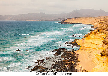 Atlantic ocean coast on Fuerteventura