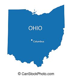 blue map of Ohio