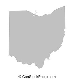 grey map of Ohio