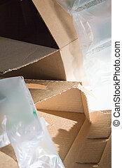 Empty Boxes Packing Material Vertical - An image of empty...