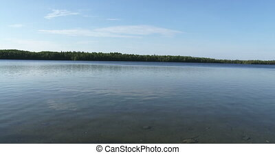 Panoramic view of Cyprus lake - Panoramic view of calm water...