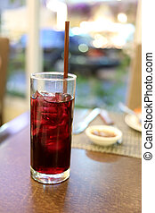 grape juice. - grape juice in a restaurant.