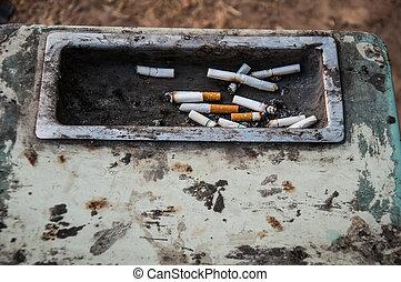 ashtray on the park