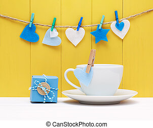 Coffee for a loved one or sweetheart decorated with pretty...