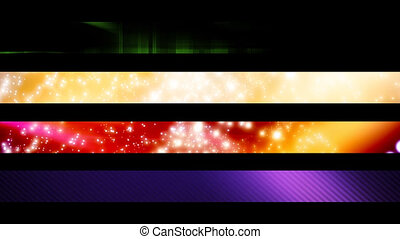 Lower Third Set Twenty One - Four Looping Abstract Lower...