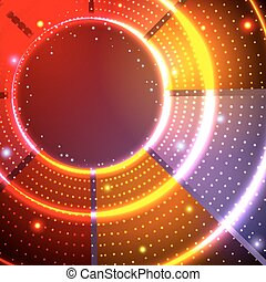 Abstract space spots background - Bright circle sparkling...