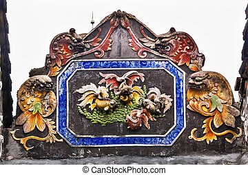 Ceramic Carp Figures Dragons Chen Ancestral Taoist Temple...