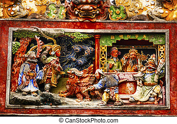 Ceramic Figures Dragons Chen Ancestral Taoist Temple...