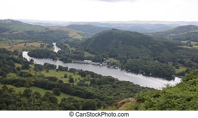 Windermere Lake District high view - Elevated view of...
