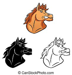 Coloring book Horse character