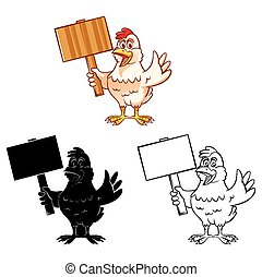 Coloring book Chicken character