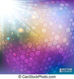 Abstract violet disco background - Vector abstract bright...