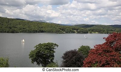 Elevated view Lake Windermere uk - Elevated view of...