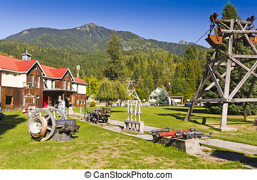 Silverton mining museum - Historic mining equipment on...