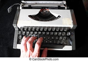 vendemmia, viaggiare, Macchina scrivere