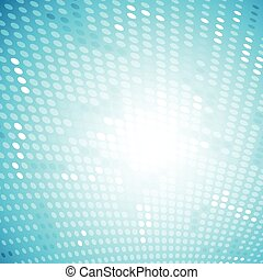 Shiny light halftone blue background Vector design