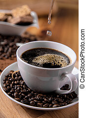 Traditional coffee, organic home concept