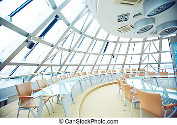 Conference hall - Image of a big round conference hall