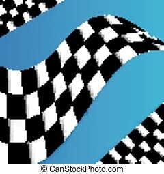 Racing Flag Vector Background Desig